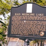 Bad Medicine Lake sign