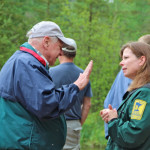 Visiting with a naturalist at Itasca State Park